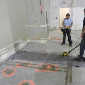 Concrete scanning to avoid post tension cables