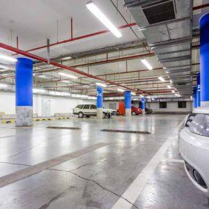 Concrete scan underground parking garage to confirm design