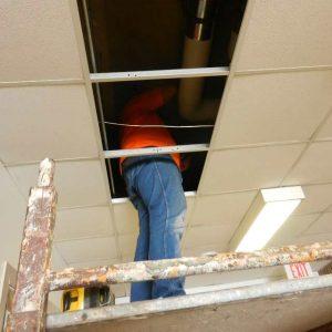 Scanning Concrete Ceiling Slab